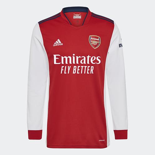 2021-2022 Arsenal Home Long Sleeve Football Shirt
