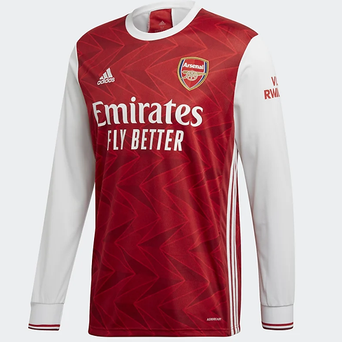 2020-2021 Arsenal Home Long Sleeve Football Shirt