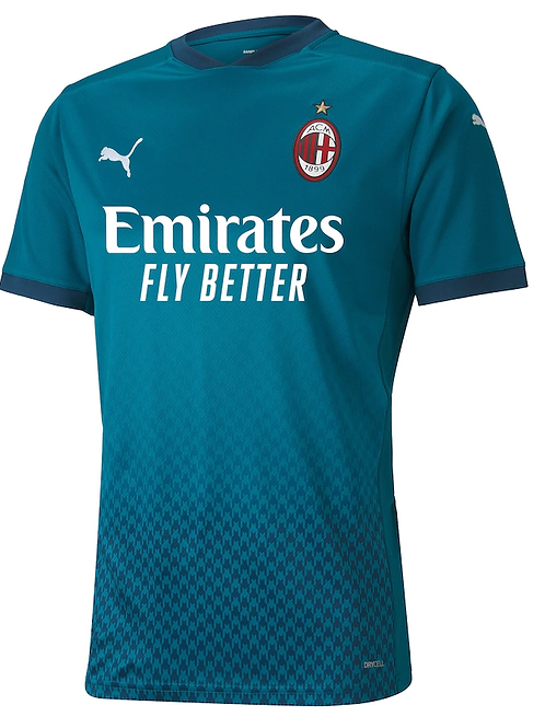 2020-2021 AC Milan Third Away Football Shirt