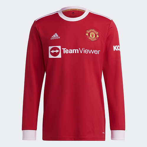 2021-2022 Manchester United Home Long Sleeve Football Shirt