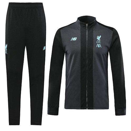2019-2020 Liverpool Black & Blue Tracksuit