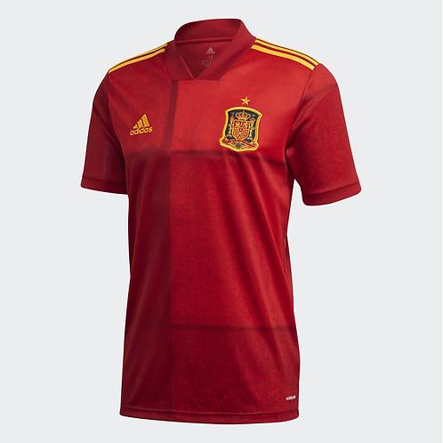 2021 Spain Euros Home Football Shirt
