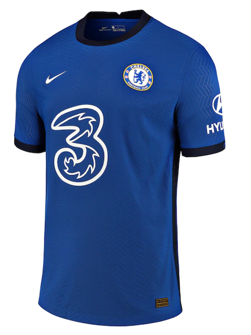 2020-2021 Chelsea Home Player Version Authentic Football Shirt