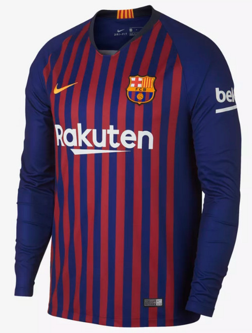 low priced fb369 6c957 2018-2019 Barcelona Long Sleeve Home Football Shirt
