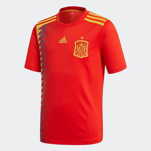 2018 Spain Home Football Shirt