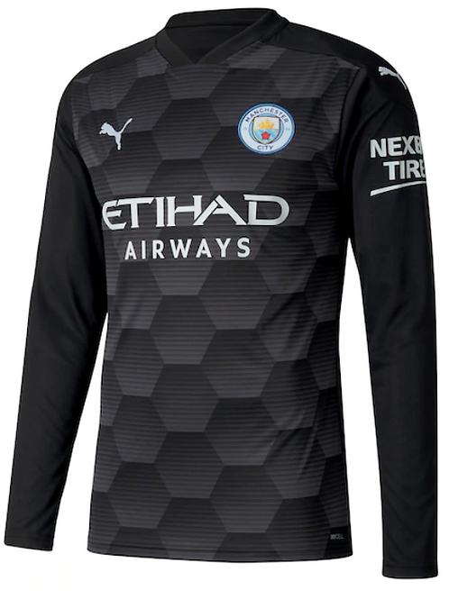 2020-2021 Manchester City Goalkeeper Home Football Shirt
