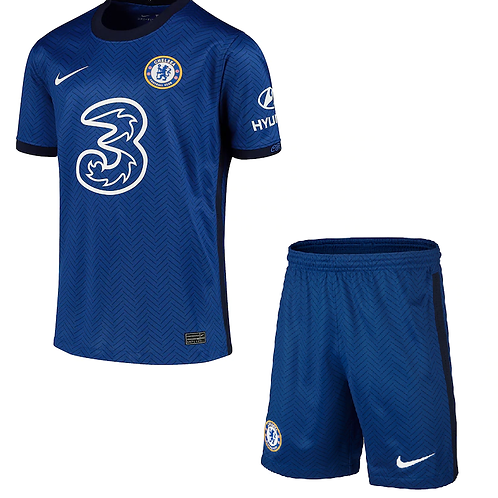 2020-2021 Chelsea Home Kid's Football Kit