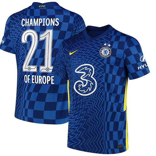 Chelsea Champions of Europe Home Football Shirt