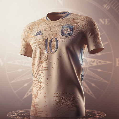 Limited Edition Argentina Away Concept Football Shirt