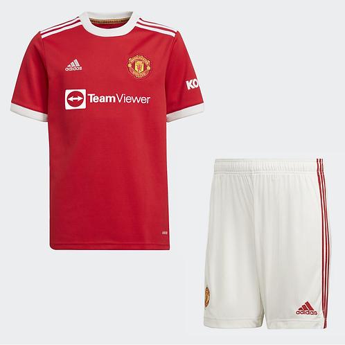 2021-2022 Manchester United Home Kid's Football Kit