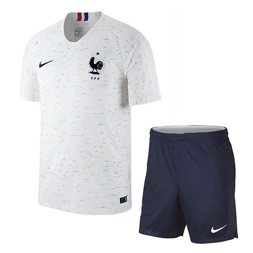 2018 France Away Kid's Football Kit (2 STARS)