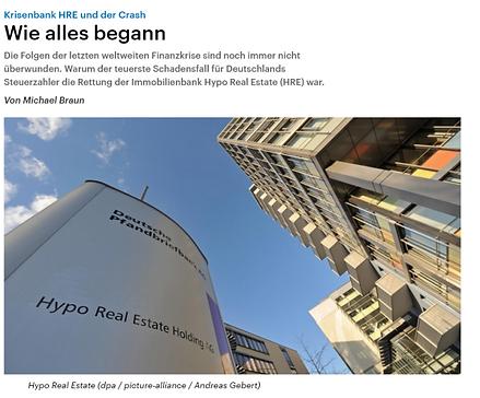 Krisenbank HRE und der Crash - Wie alles