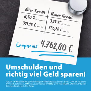 Jetzt Kredite umschulden und richtig viel Geld sparen!