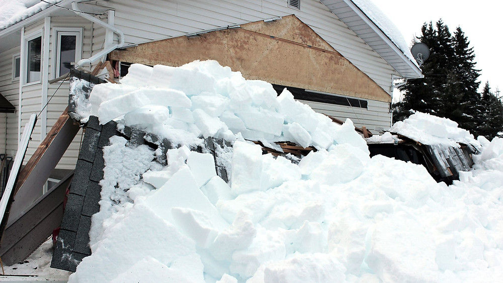 Schneedruck, Schneelawine