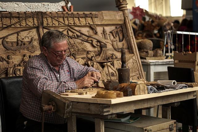 arbeitender Rentner