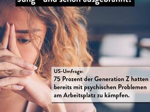 Junge Berufstätige leiden häufiger an psychischen Problemen