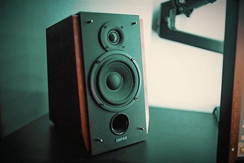 black and brown bookshelf speaker on black surface_edited.jpg