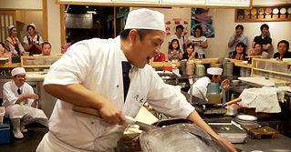 ことぶき寿司 まぐろ解体ショー