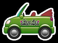 Yard Art Greetings, Yard Card Orange County, car