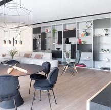 C'est Ici designed living - dining room