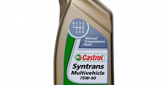 Масло ступенчатой коробки передач CASTROL Syntrans Multivehicle GL-4 75w90 1л