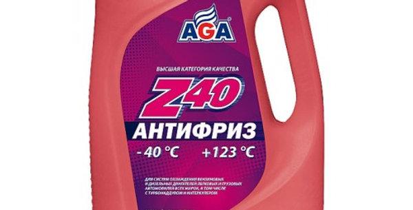 Антифриз AGA Z40 красный -40 5л