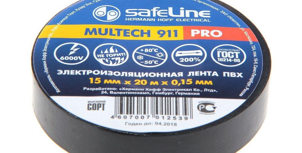 """Изолента """"SafeLine"""" 15мм/20м черная"""