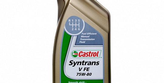Масло ступенчатой коробки передач CASTROL Syntrans V FE GL-4+ 75w80 1л