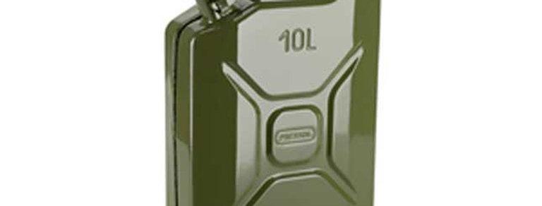 Канистра стальная для горючего и масел оливковая 10л