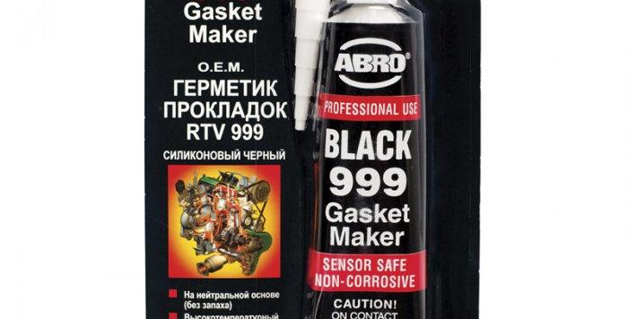 Силиконовый герметик прокладок ABRO черный 85г