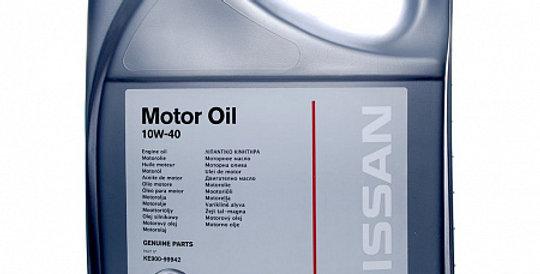 Моторное масло NISSAN Motor Oil 10w40 5л