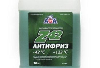 Антифриз AGA Z42 зеленый -42 10л
