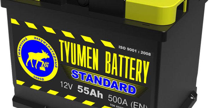"""55 п.п. Tyumen Battery """"STANDARD"""" 500А (242*175*190)"""