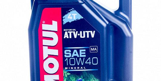 Моторное масло MOTUL ATV-UTV 4T 10w40 4л