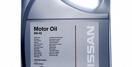 Моторное масло NISSAN Motor Oil 5w40 5л