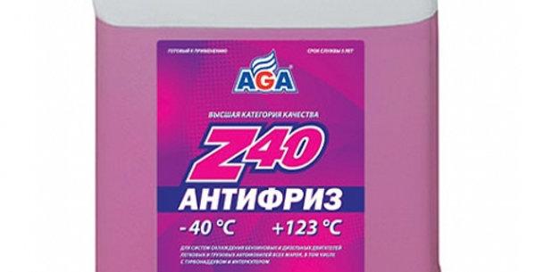 Антифриз AGA Z40 красный -40 10л