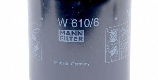 W610/6 MANN-FILTER Масляный фильтр