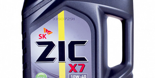 Моторное масло ZIC X7 Diesel 10w40 4л