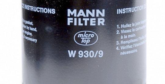 W930/9 MANN-FILTER Масляный фильтр