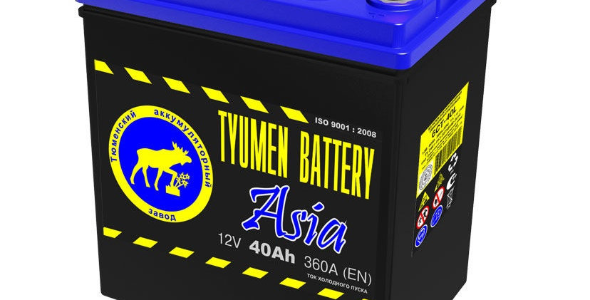 "40 п.п. Tyumen Battery ""ASIA"" 6CT-40L B19 360А (187*128*223)"