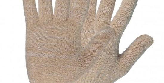Перчатки х/б Зима белые двойные (пара)