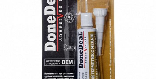 Герметик термостойкий силиконовый с медью DONE DEAL 6731 42,5г