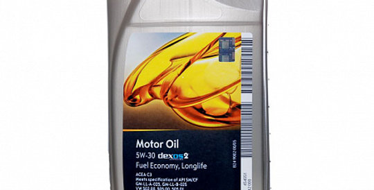 Моторное масло GM Motor Oil Dexos2 5w30  1л