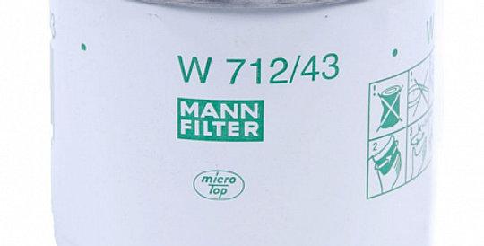 W712/43 MANN-FILTER Масляный фильтр