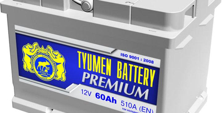 """60 о.п. Tyumen Battery """"PREMIUM"""" 510А (242*175*175)"""