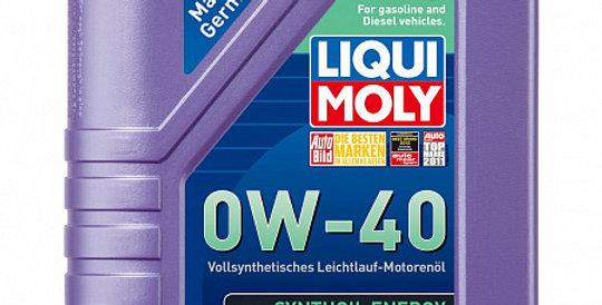 Моторное масло LIQUI MOLY Synthoil Energy 0w40 1л