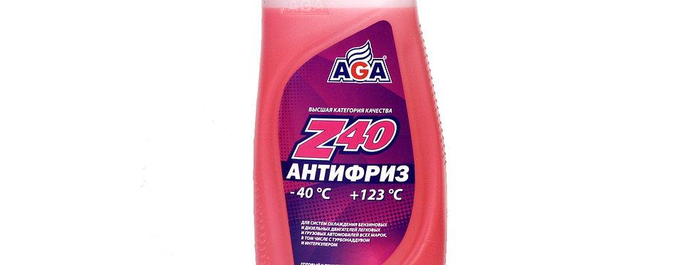 Антифриз AGA Z40 красный -40 0,946л
