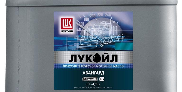Масло моторное Лукойл Авангард п/синт. 10w40 18л.