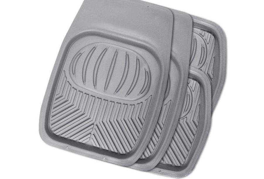 Коврики автомобильные POLAR универсальный ванночки комплект из 4 предметов серый