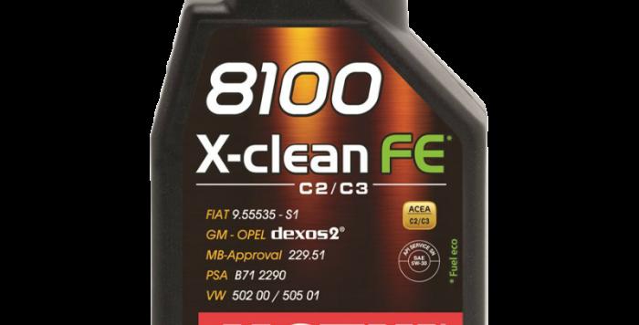 Моторное масло MOTUL 8100 X-clean FE 5w30 1л